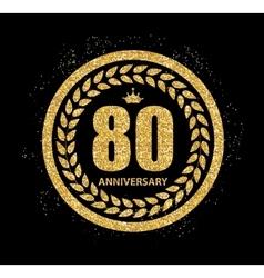 Template Logo 80 Years Anniversary vector image