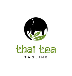 thai tea logo vector image