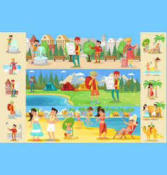 traveling people infographic concept vector image