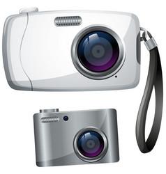 two designs of digital cameras vector image