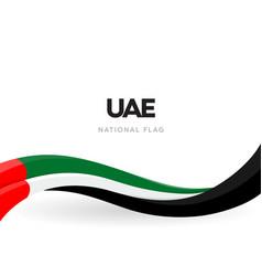 Uae waving flag banner united arab emirates vector