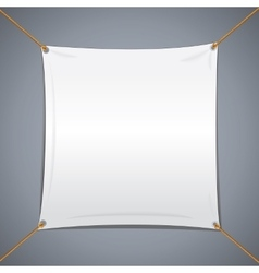 White Textile Banner vector image