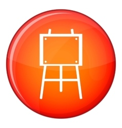 Wooden easel icon flat style vector