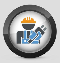worker icon vector image