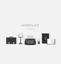 Workplace of the writer vector