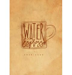 americano cup coffee craft vector image vector image