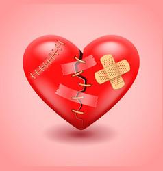 Broken heart background vector image