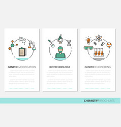 chemistry business brochure template linear vector image