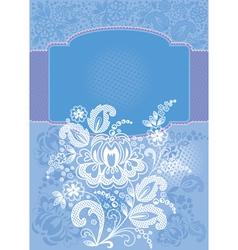 Decorative floral blue background vector image vector image