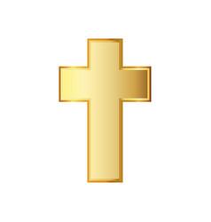 golden christian cross vector image
