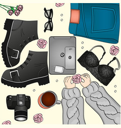 stylish fashionable clothes look vector image