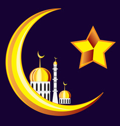 symbol of the islam on black vector image