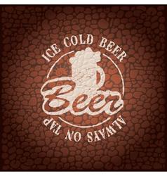 wall beer vector image