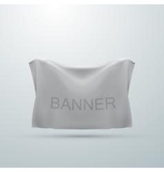 white textile banner mock-up vector image