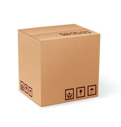 Carton box isolated vector image vector image