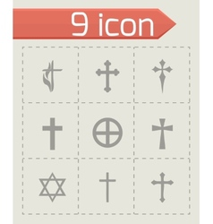 choppers crosses icons set vector image