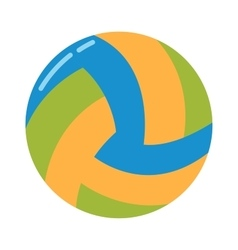 Dark blue yellow volleyball ball on a white vector image vector image