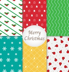 Merry Christmas Pattern Background Collection vector image