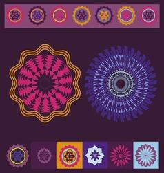 spring meditation print vector image vector image