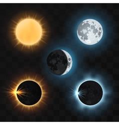 Sun moon eclipses vector image