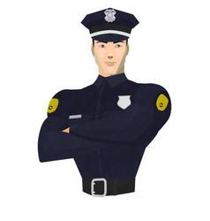 1603 policeman vector image