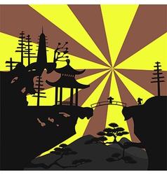 Asian landscape4 vector image
