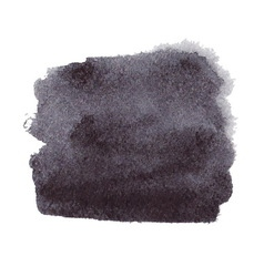 Black watercolor spot vector image