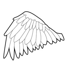 goose wing icon outline style vector image vector image