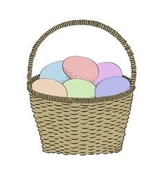 Hand-drawn basket vector image vector image