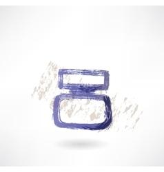 inkwell grunge icon vector image