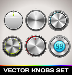 Knobs Set vector image vector image