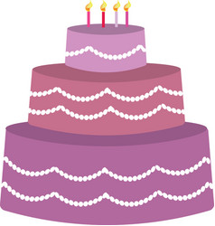 purple birhday cake vector image