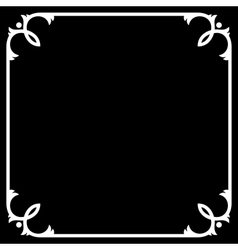 Silent Movie Black Frame with White Border vector image vector image
