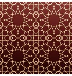 Arabic geometric art seamless pattern vector image vector image