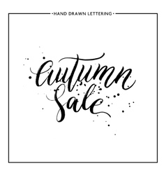 Autumn sale text with black splashes vector image