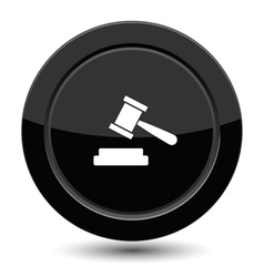 Button with court sign vector image vector image