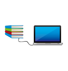 computter knowledge study icon vector image