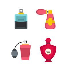 perfume icon set flat style vector image