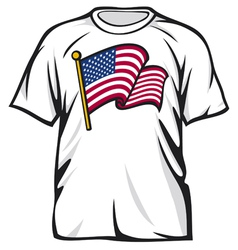 United States of America t-shirt vector image vector image