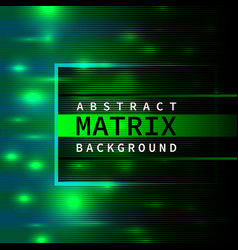 Abstract green matrix background vector