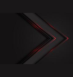 Abstract red light black arrow direction on dark b vector