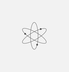 atom symbol for web in trendy flat style isolated vector image
