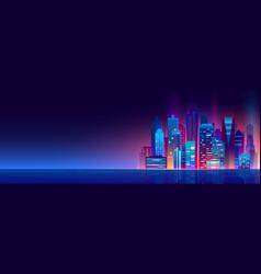 beautiful night city vector image