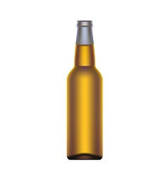 Beer bottle isolated on white background vector