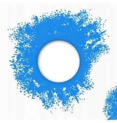 Blue splashes paint vector