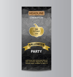 brochure template for halloween party vector image