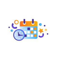 Business elements schedule management finance vector