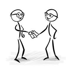 Business people making a deal vector