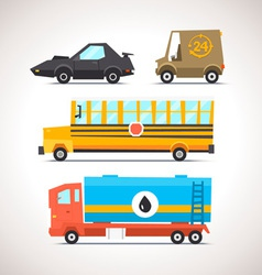 Car Flat Icon Set 6 vector