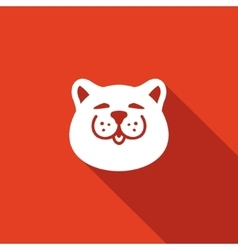 Cat head icon vector image